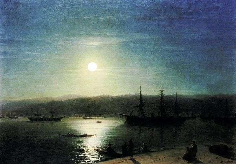 Босфор в місячну ніч   Іван Айвазовський