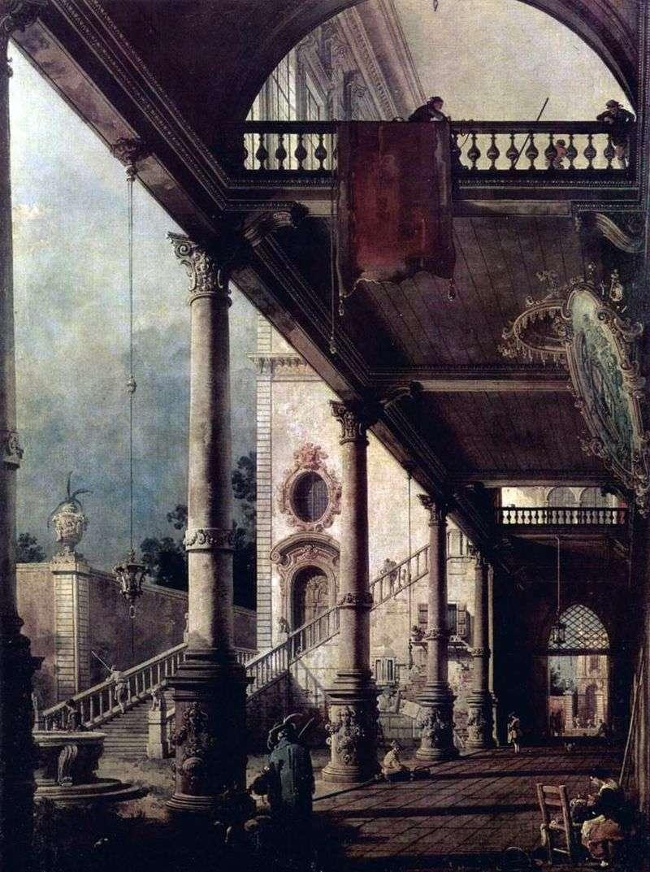 Перспектива з портиком   Антоніо Каналетто