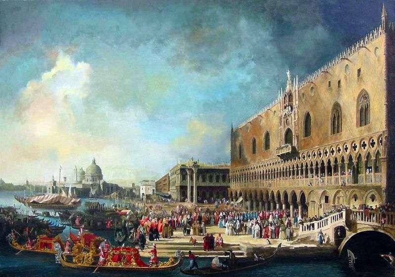 Прийом французького посла у Венеції   Антоніо Каналетто