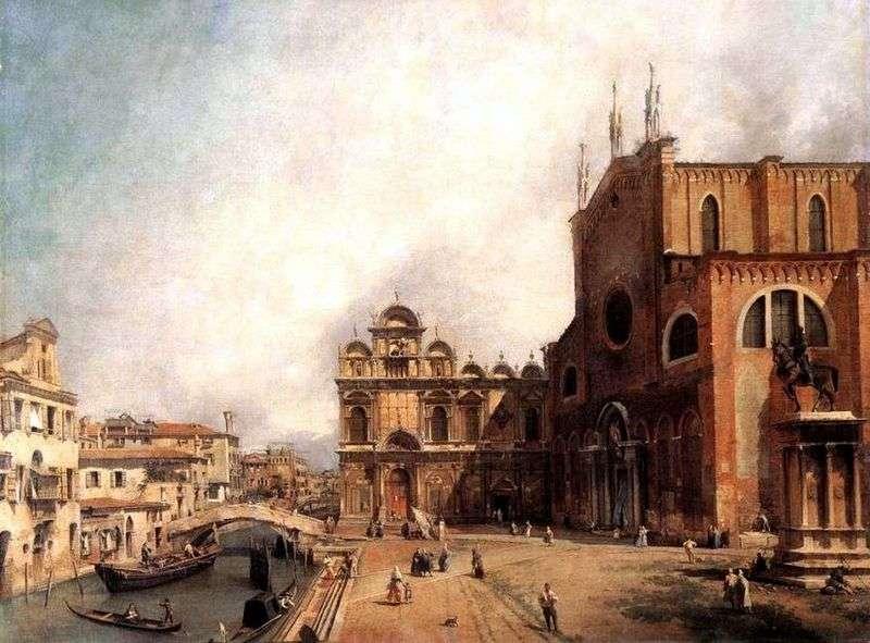 Собор Сан Джованні е Паоло і площа Сан Марко   Антоніо Каналетто