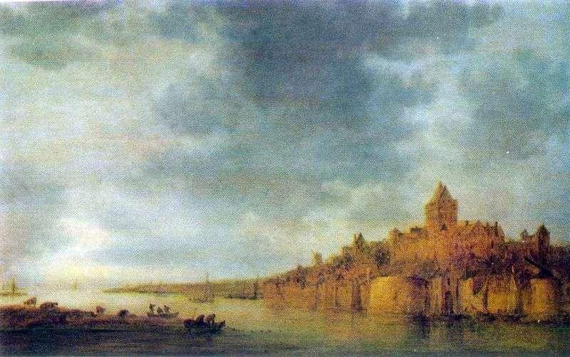 Вигляд річки Вааль у Nijmegen   Ян ван Гойен