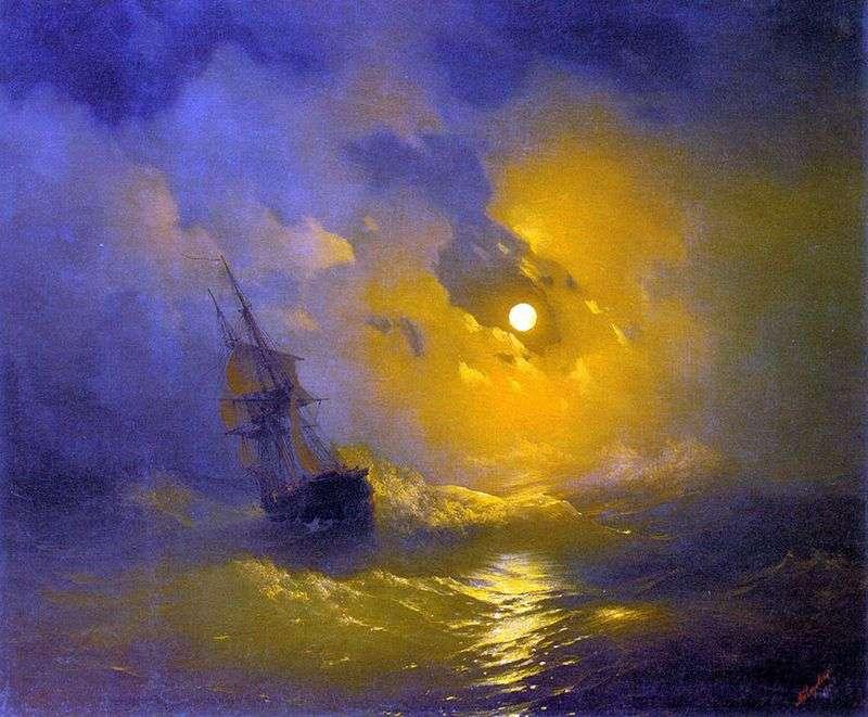 Буря на морі вночі   Іван Айвазовський