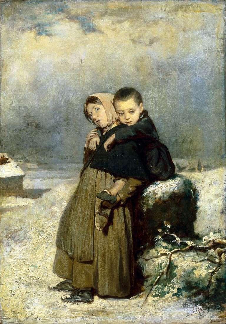 Діти сироти на кладовищі   Василь Перов