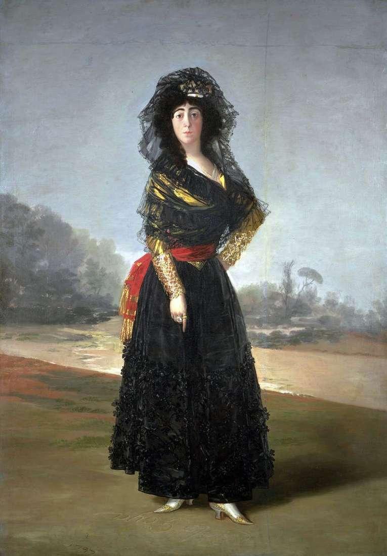 Герцогиня Альба в чорному   Франсіско де Гойя