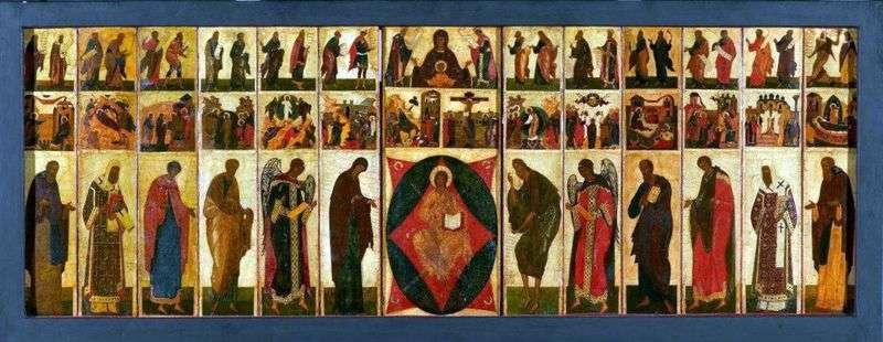 Іконостас Успенського Собору у Володимирі Святковий Чин   Андрій Рубльов