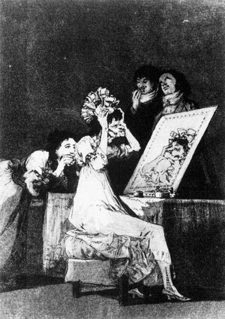Гравюри   Капрічос (Вередування)   Франсіско де Гойя