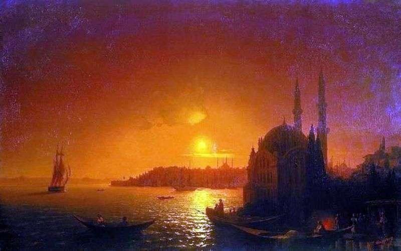 Вид Константинополя при місячному освітленні   Іван Айвазовський