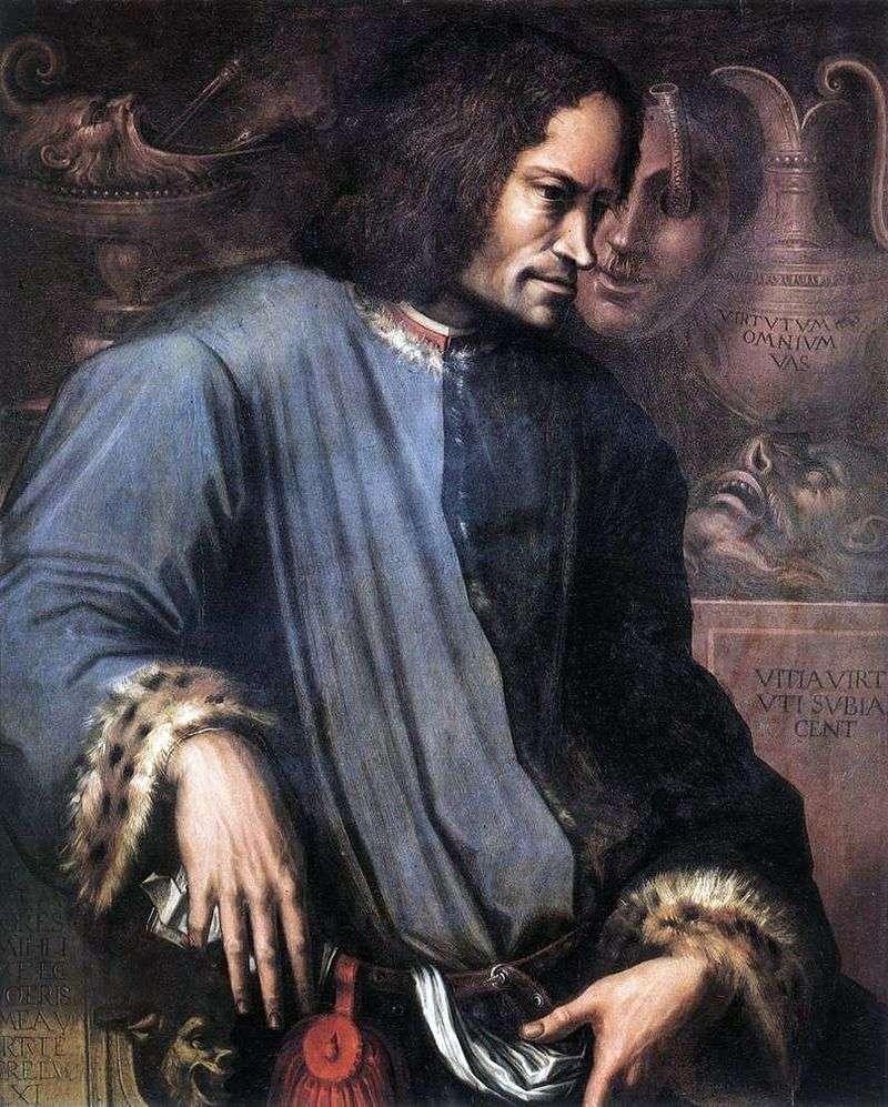 Портрет Лоренцо Прекрасного   Джорджо Вазарі