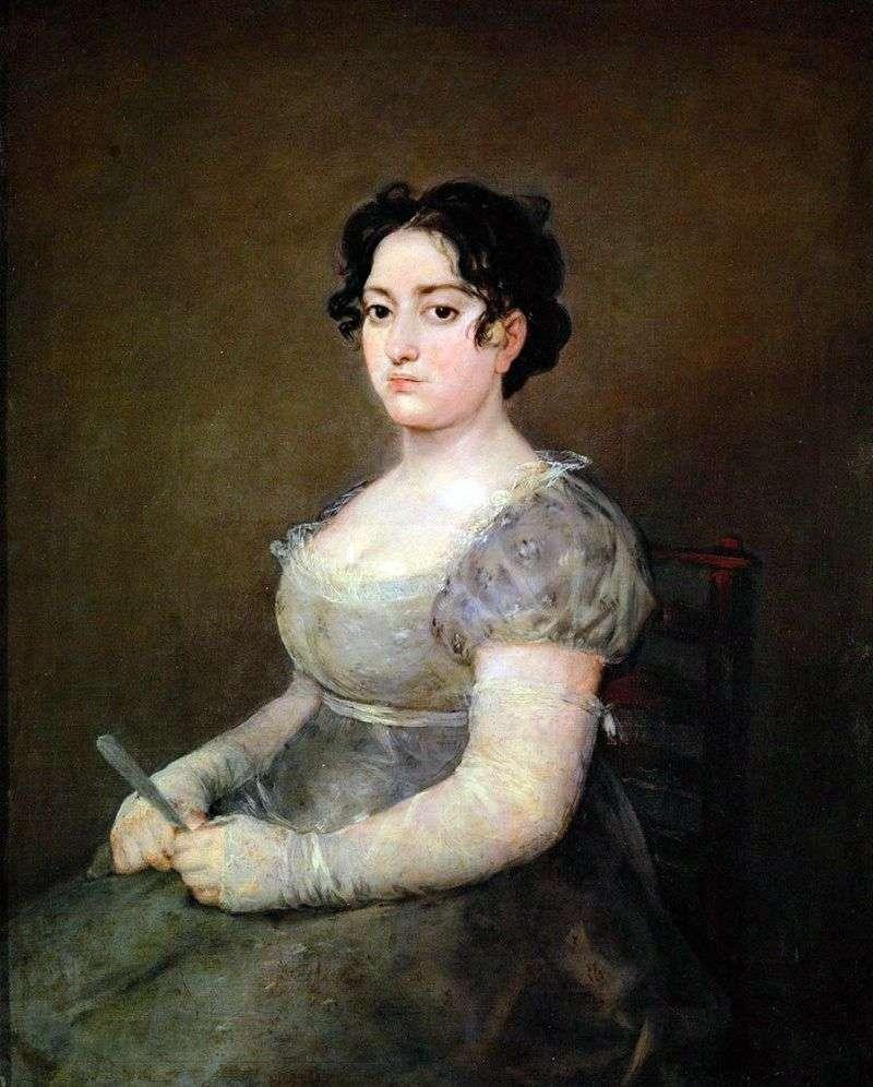 Жінка з віялом   Франсіско де Гойя