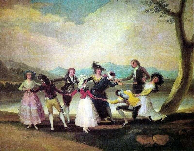Гра в піжмурки   Франсіско де Гойя