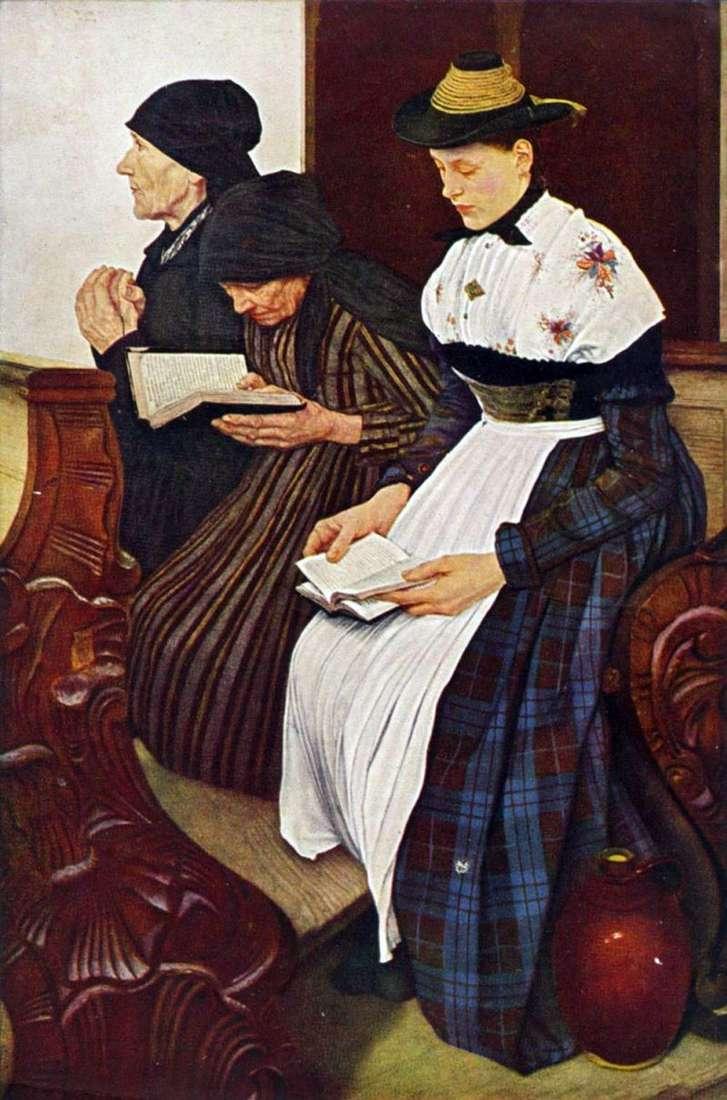 Три жінки у церкві   Вільгельм Лейбль