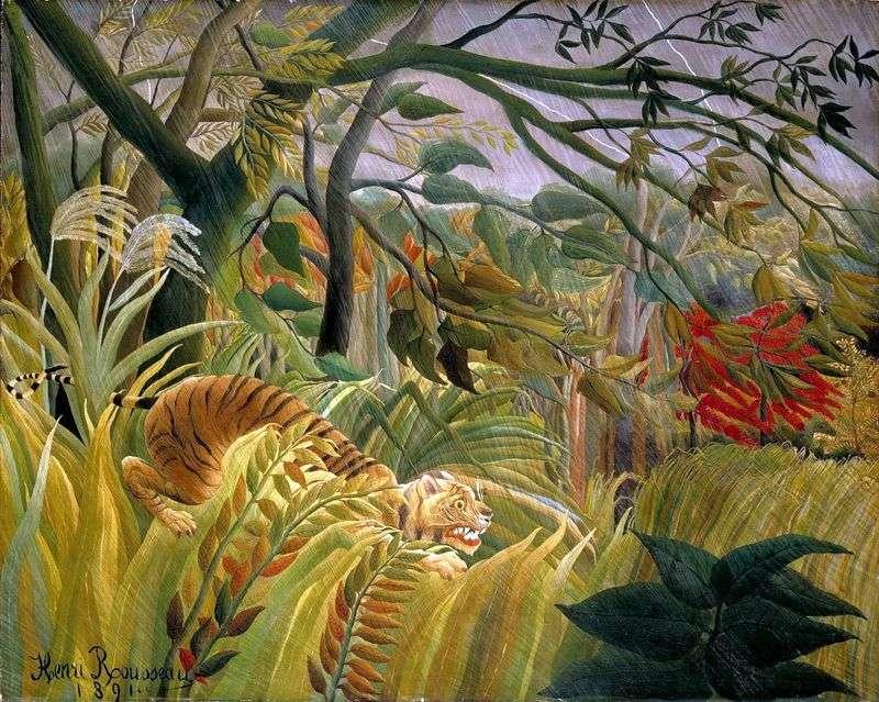 Буря в джунглях   Анрі Руссо