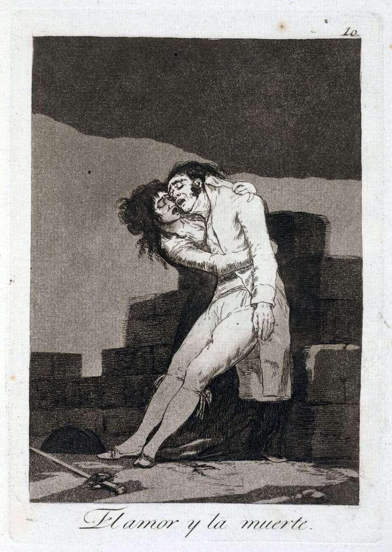 Любов і смерть   Франсіско де Гойя