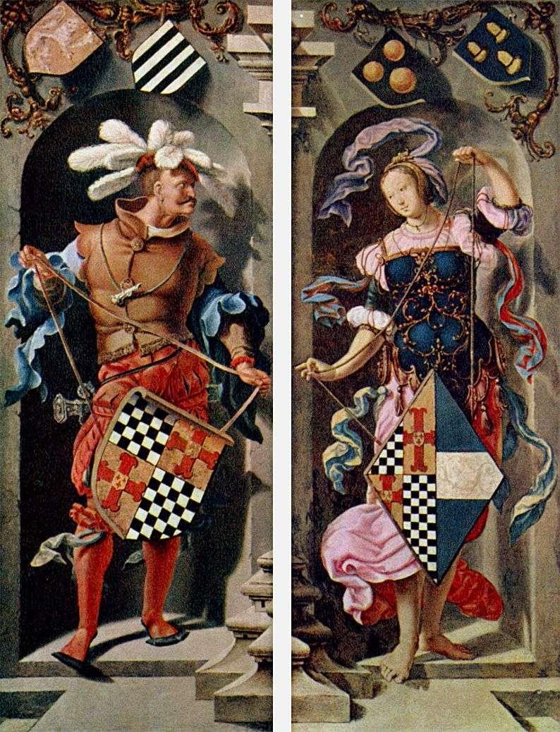 Зцілення иерихонского сліпця (бічні стулки триптиха)   Лукас ван Лейден