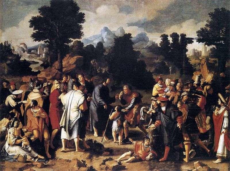 Зцілення иерихонского сліпця (триптих)   Лукас ван Лейден