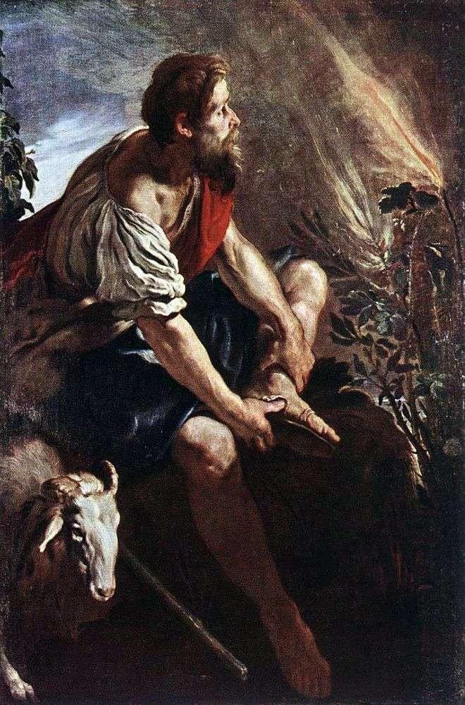 Мойсей перед палаючим кущем   Доменіко Фети