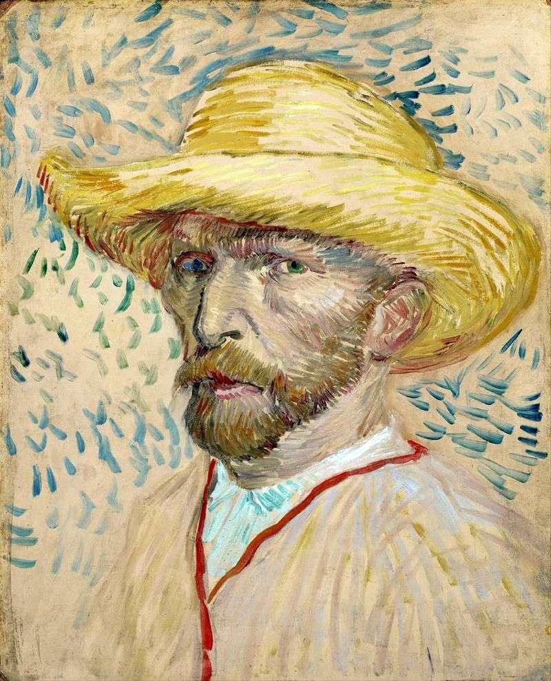 Автопортрет у соломяному капелюсі II   Вінсент Ван Гог