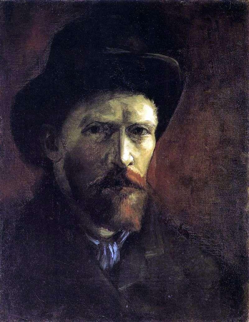 Автопортрет у темному фетровому капелюсі   Вінсент Ван Гог
