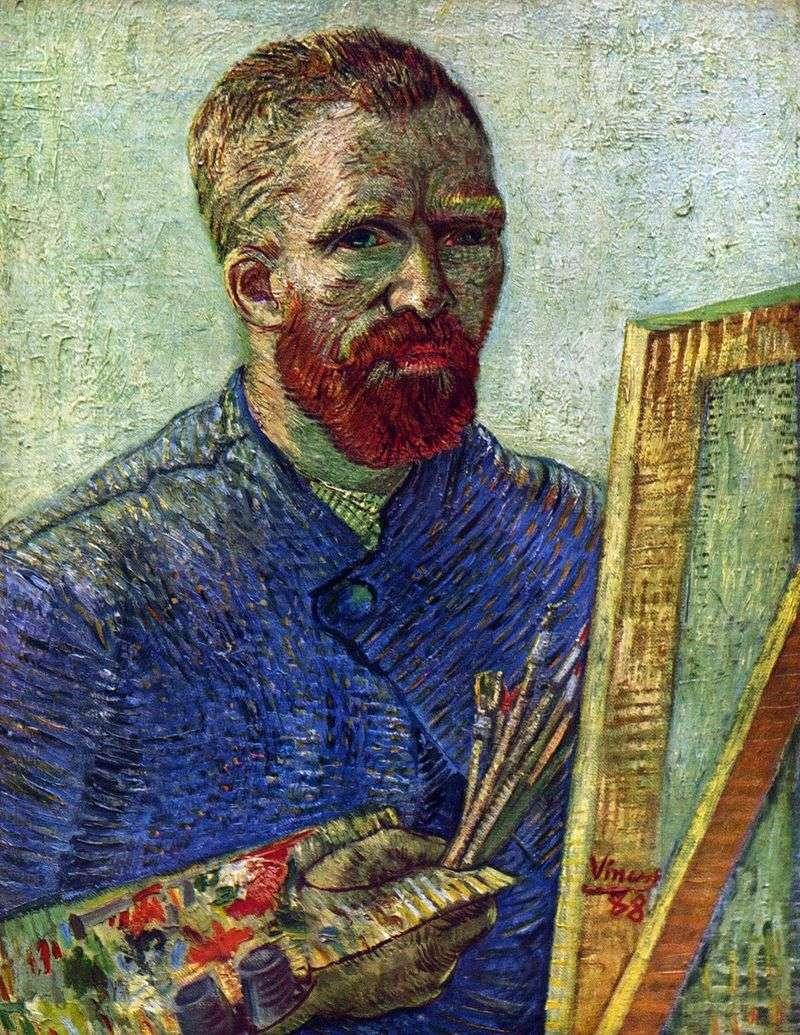Автопортрет перед мольбертом   Вінсент Ван Гог