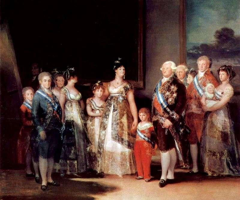 Портрет сімї Карла IV   Франсіско де Гойя
