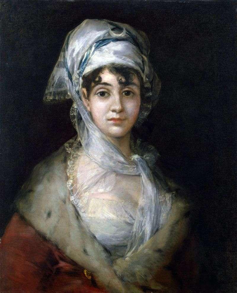 Портрет актриси Антонії Сараті   Франсіско де Гойя