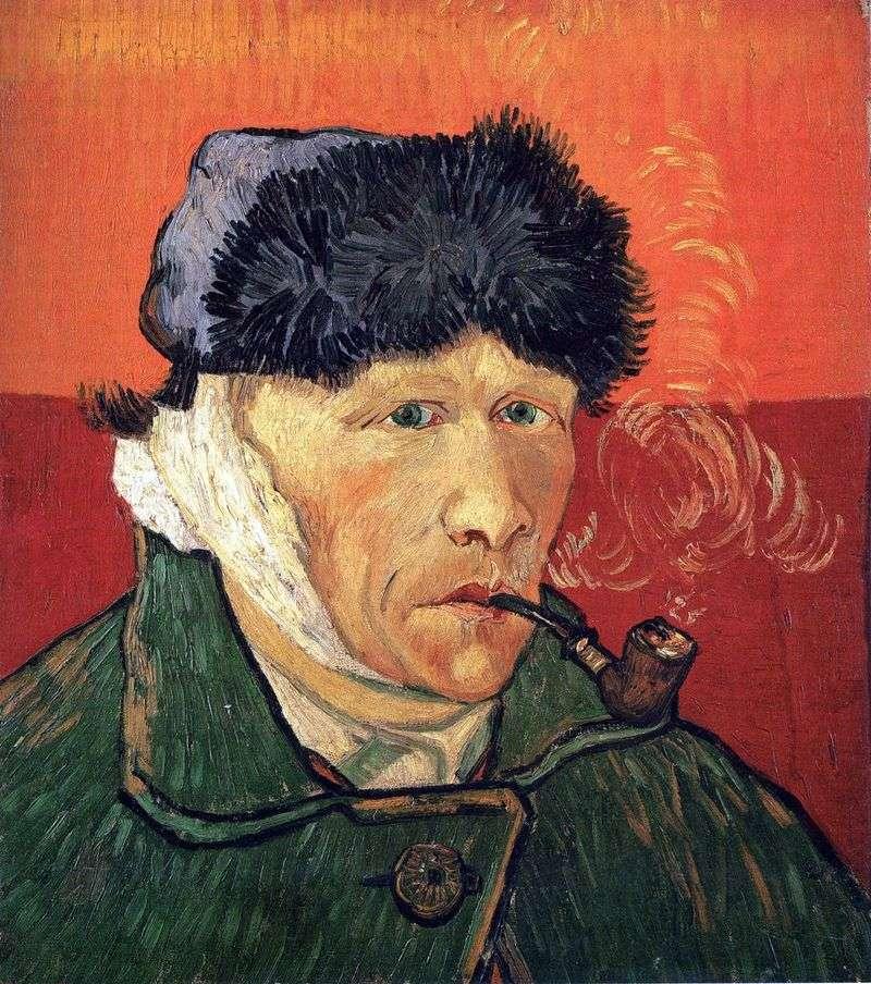 Автопортрет з перевязаним вухом і трубкою   Вінсент Ван Гог