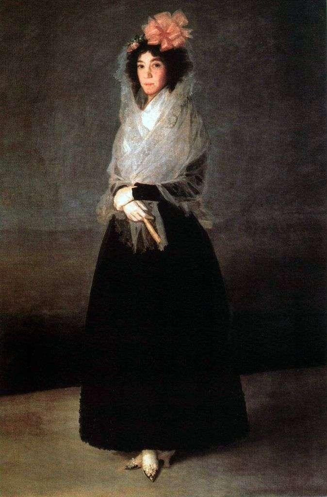 Портрет графині Карпио, маркізи де ла Солана   Франсіско де Гойя