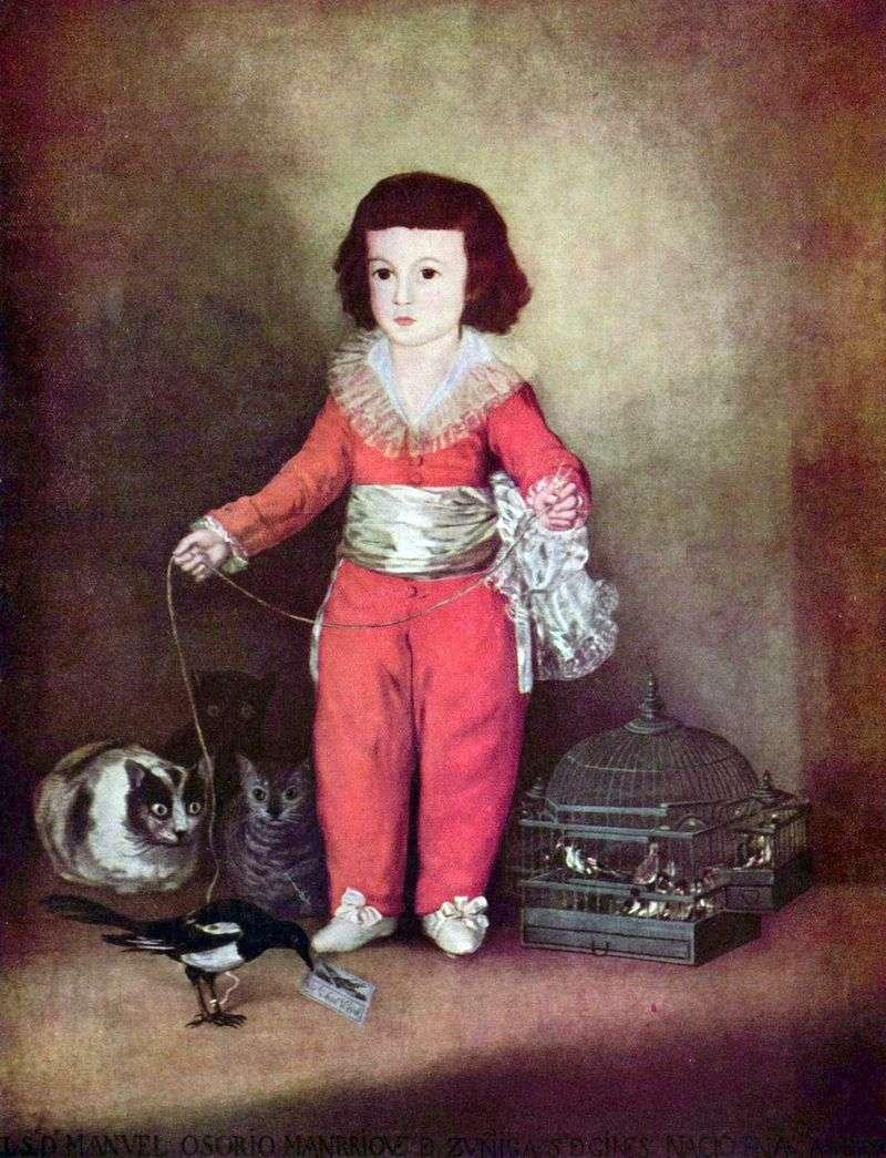 Портрет Дона Мануеля Осоріо і Сунига   Франскиско де Гойя