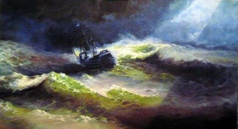 Корабель Імператриця Марія під час шторму   Іван Айвазовський
