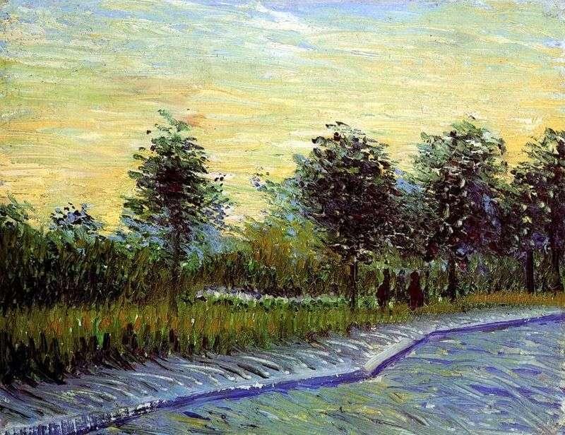 Алея у парку даржансон в Аньере   Вінсент Ван Гог