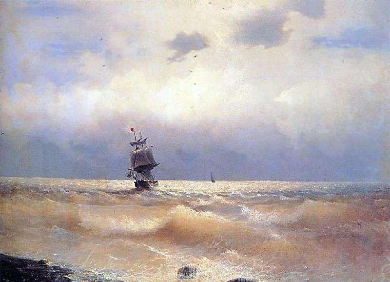 Корабель біля берега   Іван Айвазовський