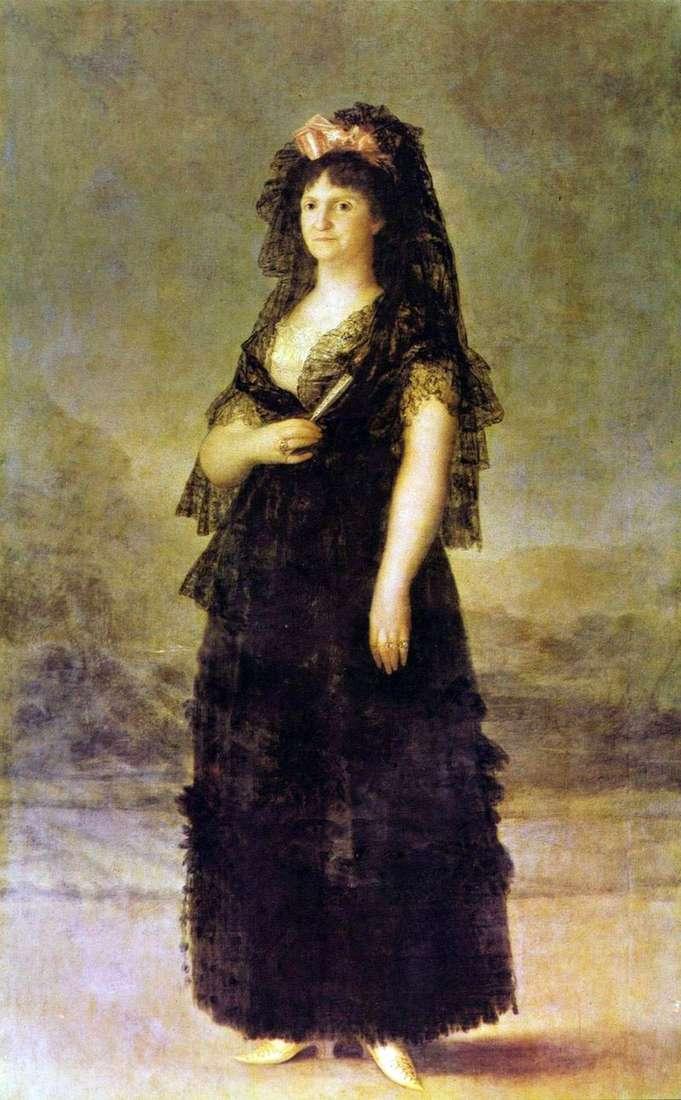 Портрет королеви Марії Луїзи Пармської   Франсіско де Гойя