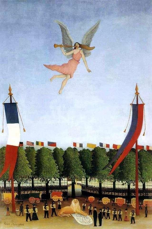 Свобода, запрошуюча художників прийняти участь у ХХІІ Салоні незалежних   Анрі Руссо