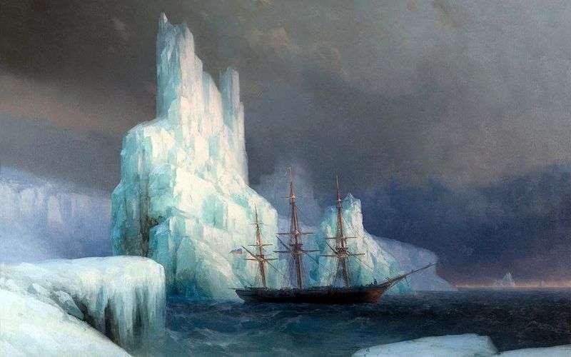 Крижані гори в Антарктиді   Іван Айвазовський