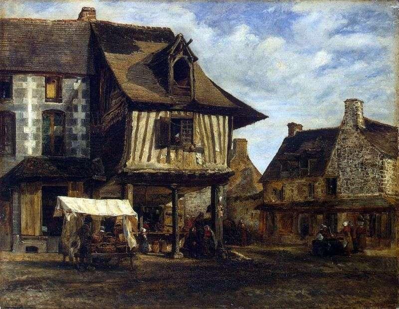 Ринок в Нормандії   Теодор Руссо