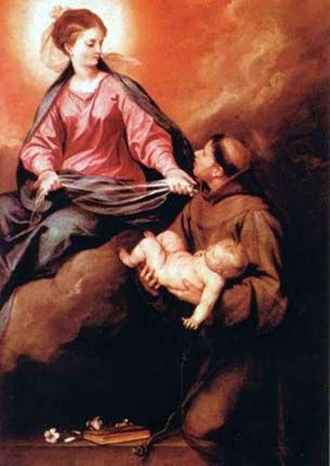 Бачення св. Антоніо Богоматері з Немовлям   Алонсо Кано
