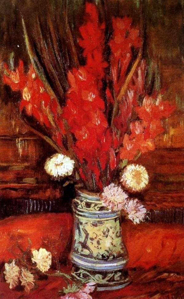 Ваза з червоними гладіолусами II   Вінсент Ван Гог