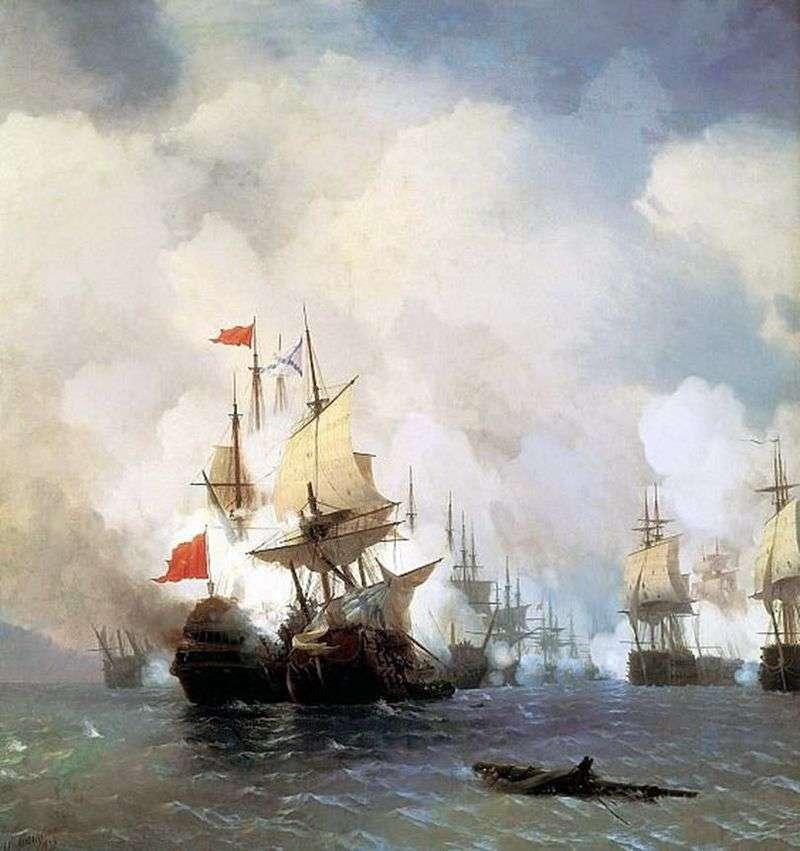 Морська битва   Іван Айвазовський