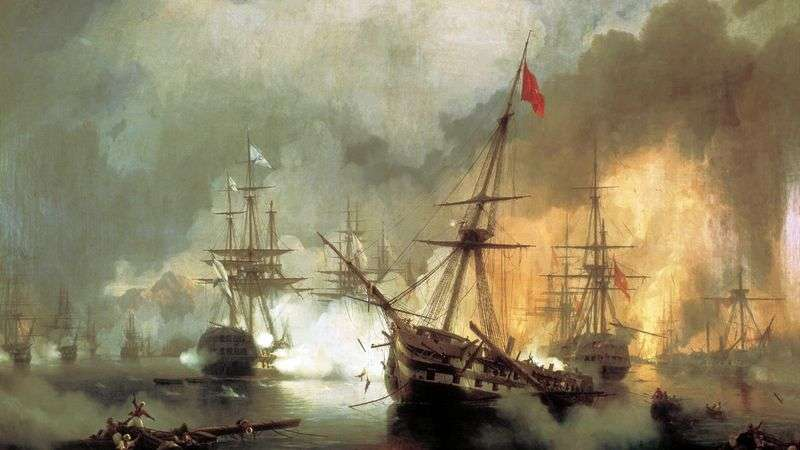 Морська битва при Наваріне 2 жовтня 1827 року   Іван Айвазовський