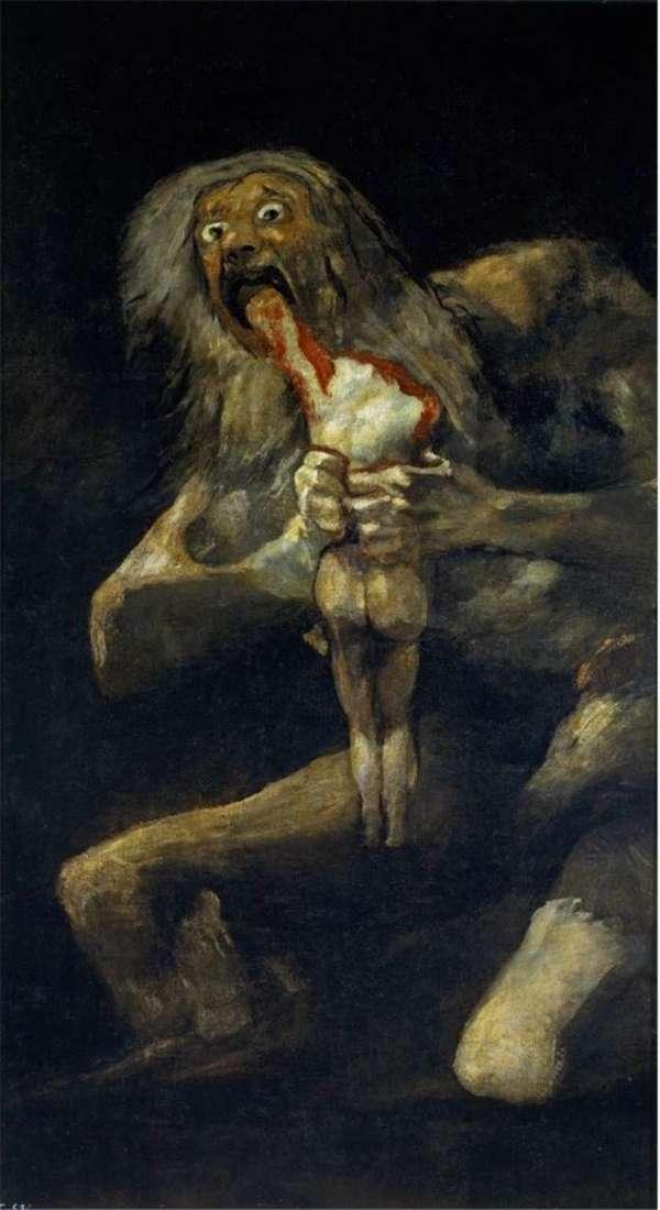 Сатурн, який пожирає свого сина   Франсіско де Гойя