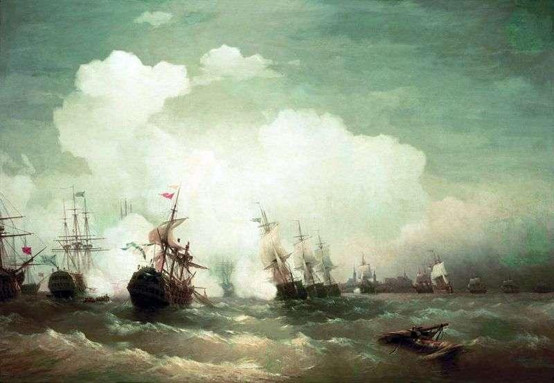 Морська битва при Ревелі   Іван Айвазовський