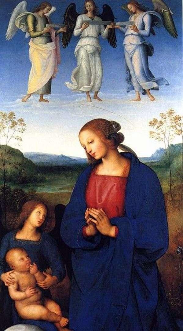 Мадонна з Немовлям і ангелом   Пєтро ді Христофоро Вануччи Перуджіно