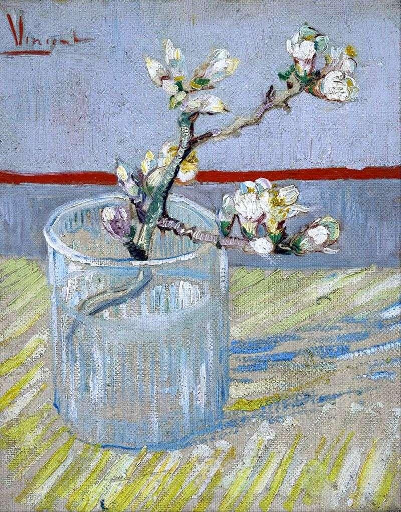 Гілка квітучого мигдалю в склянці   Вінсент Ван Гог