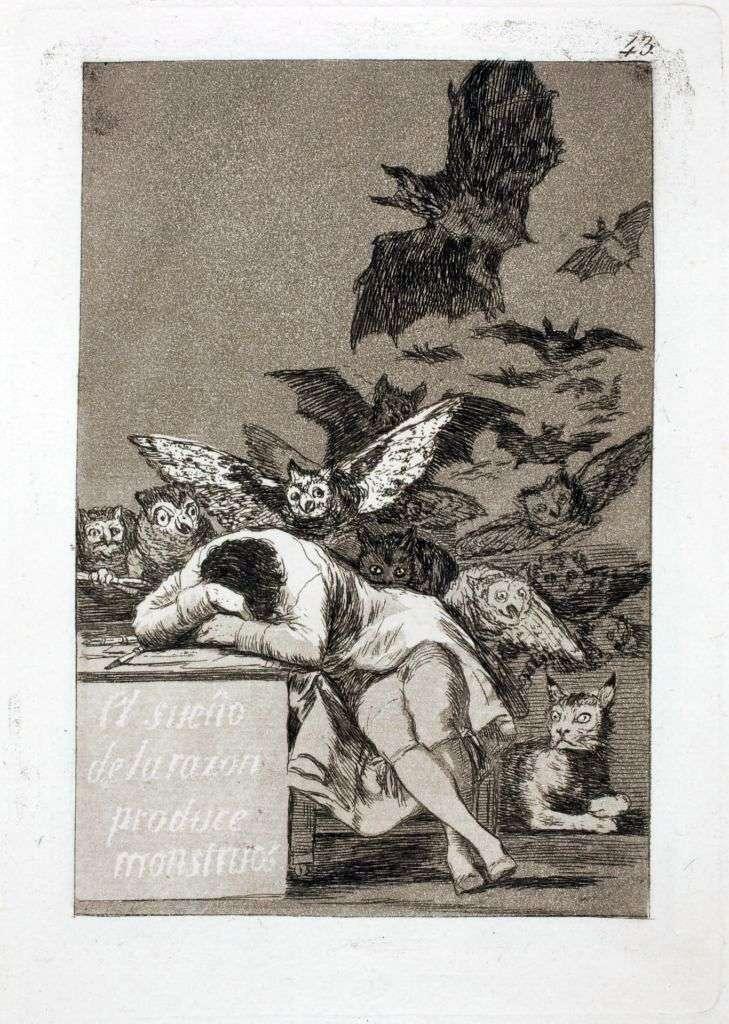 Сон розуму народжує чудовиськ   Франсіско де Гойя