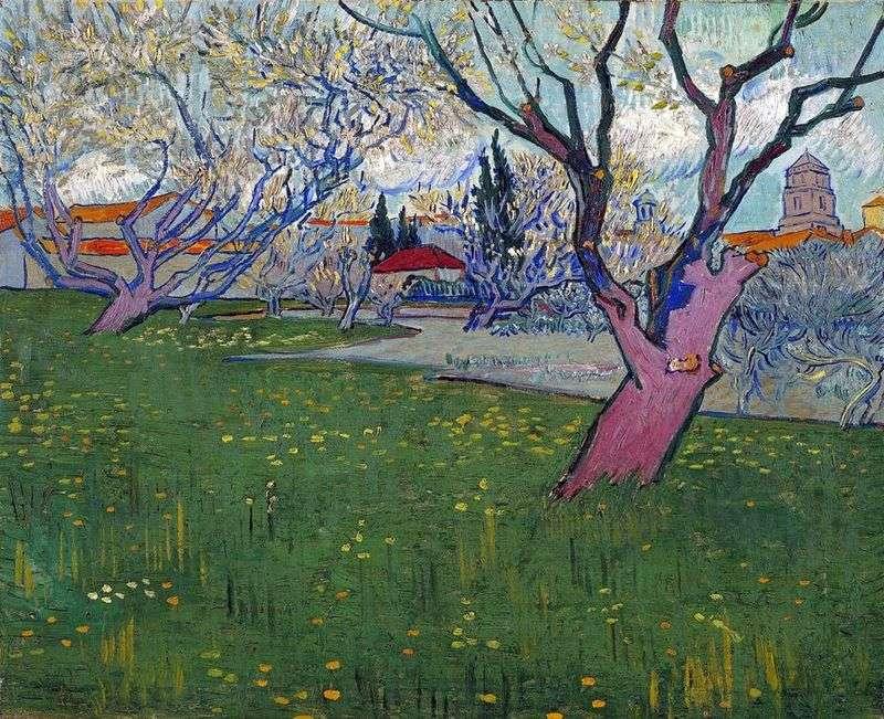 Вид на Арль серед квітучих дерев   Вінсент Ван Гог