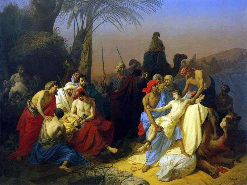 Діти Якова продають свого брата Йосипа   Костянтин Флавицький