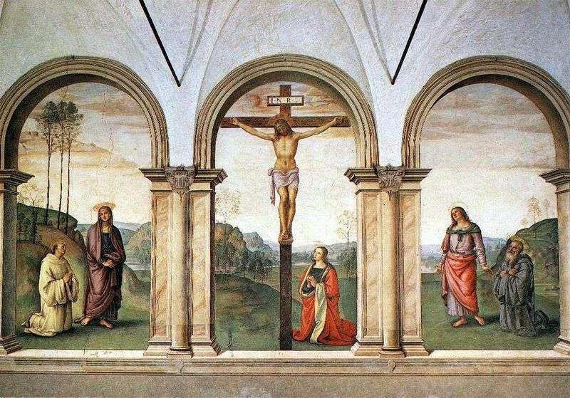 Фрескового триптих Розпяття   Пєтро ді Христофоро Вануччи Перуджіно