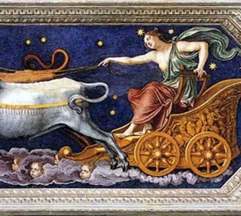 Німфа Каллісто на колісниці Юпітера   Бальдассаре Перуцці