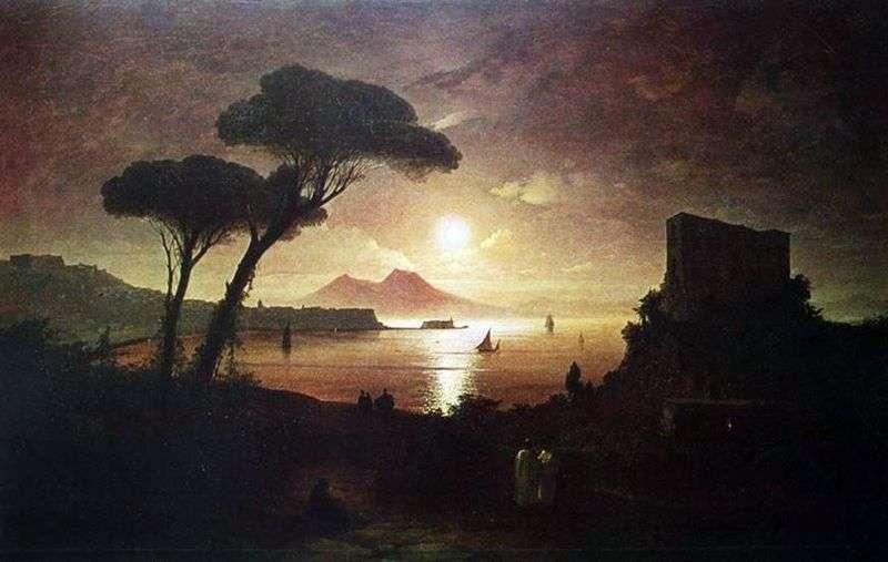 Неаполітанська затока в місячному світлі   Іван Айвазовський