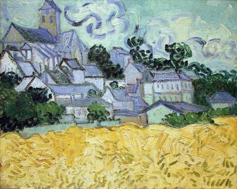 Вид на Овер і церква   Вінсент Ван Гог